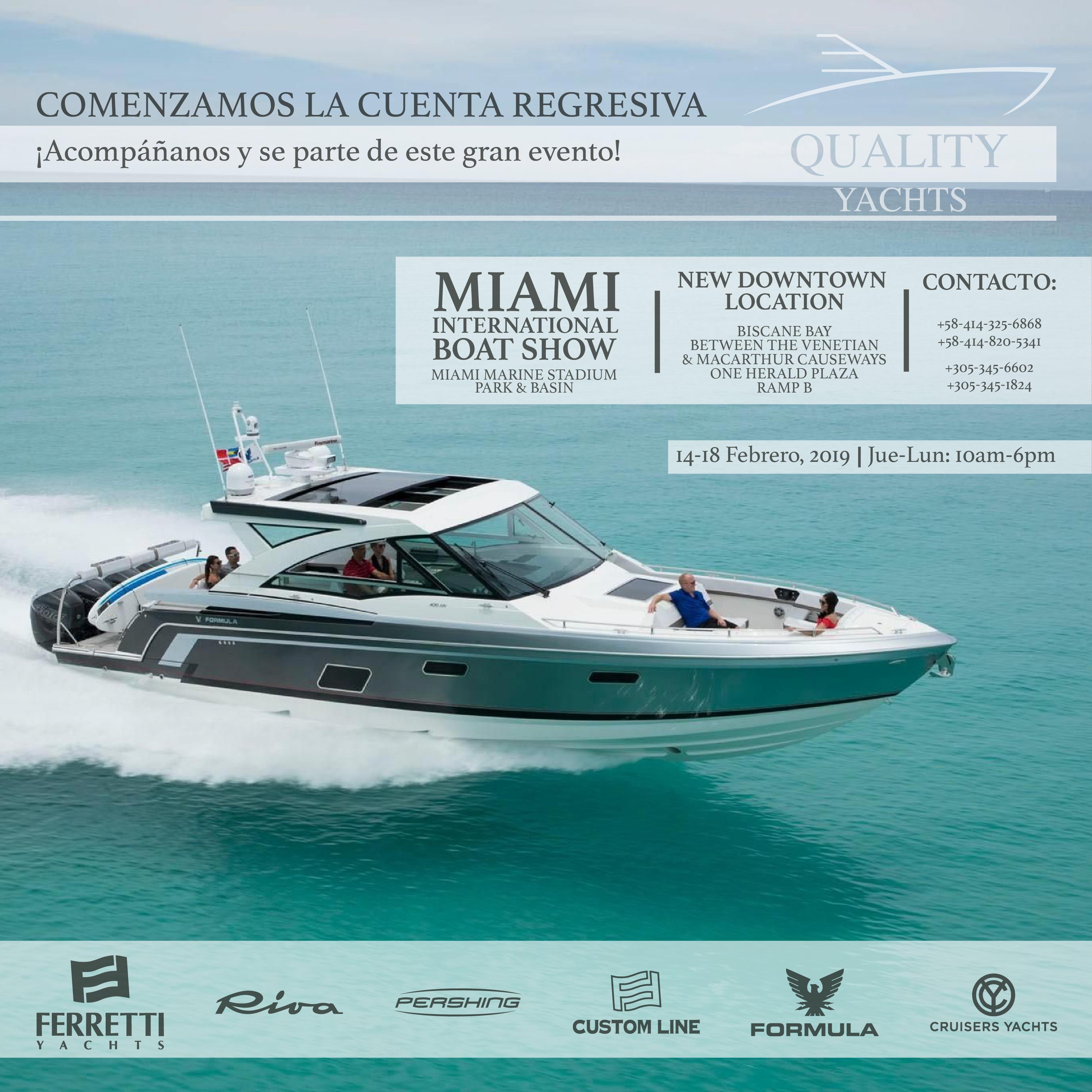 Cuenta regresiva para el Miami International Boat Show 2019
