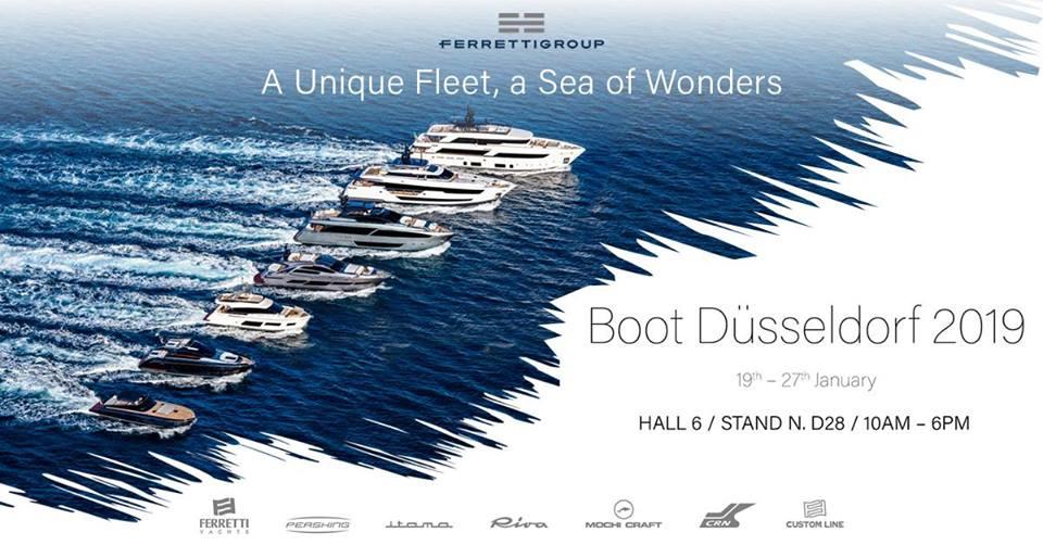 Ferretti Group fascinará con 7 modelos en el Boot Dusseldorf 2019